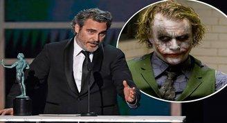 Joaquin Phoenix ödül konuşmasında Heath Ledger'ı andı