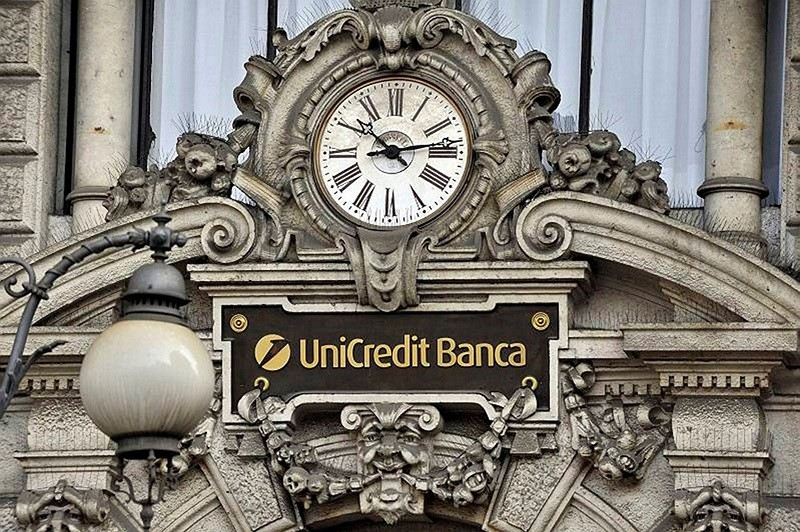 This file picture taken on Oct. 9, 2008 in Milan shows a view of the headquarters of Italian leading bank Unicredit. (AFP Photo)