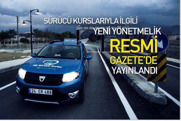 Sürücü kurslarıyla ilgili yeni yönetmelik Resmi Gazete'de yayınlandı