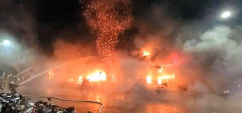 BUILDING FIRE KILLS 7 IN TAIWAN