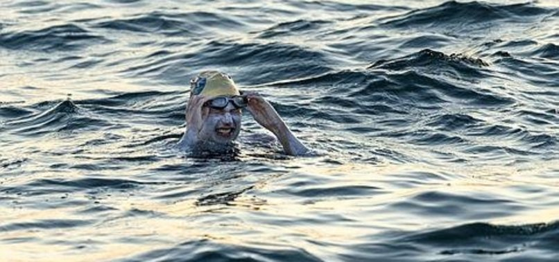 AMERICAN CANCER SURVIVOR SWIMS ENGLAND CHANNEL 4 TIMES