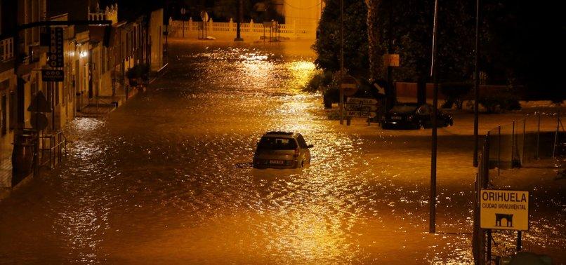 TORRENTIAL RAIN CAUSES 3RD DEATH IN SOUTHEASTERN SPAIN