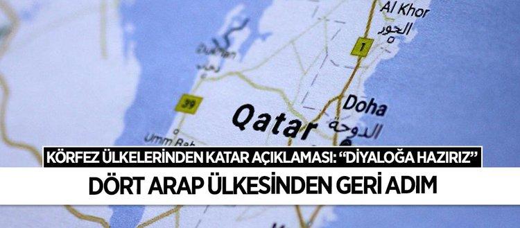 Arap ülkelerinden Katar açıklaması: Diyaloğa hazırız