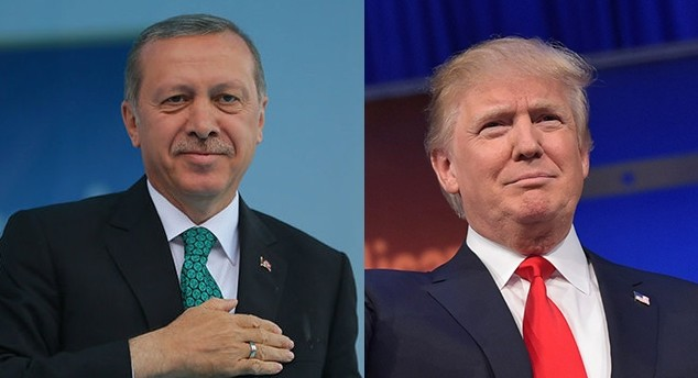 President Recep Tayyip Erdou011fan (L) and his US counterpart-to-be Donald Trump