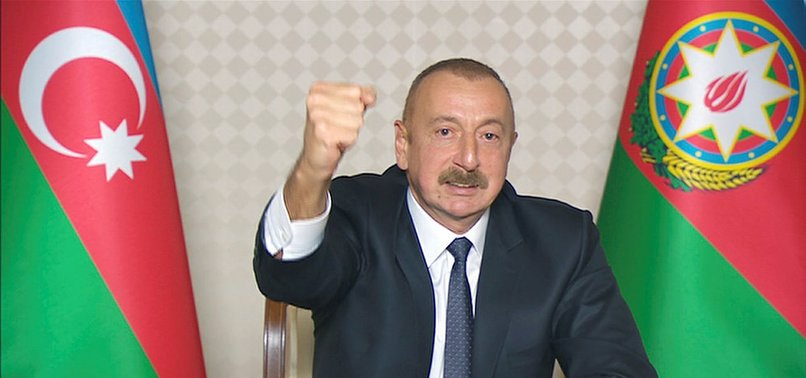 ALIYEV ANNOUNCES LIBERATION OF ZANGILAN CITY AND SEVERAL VILLAGES FROM ARMENIAN OCCUPATION
