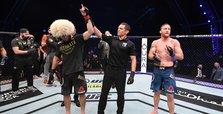 Nurmagomedov stops Gaethje, announces retirement at UFC