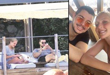 Eremcan Acar ve Aylin Koç Bodrumda tatil yapıyor