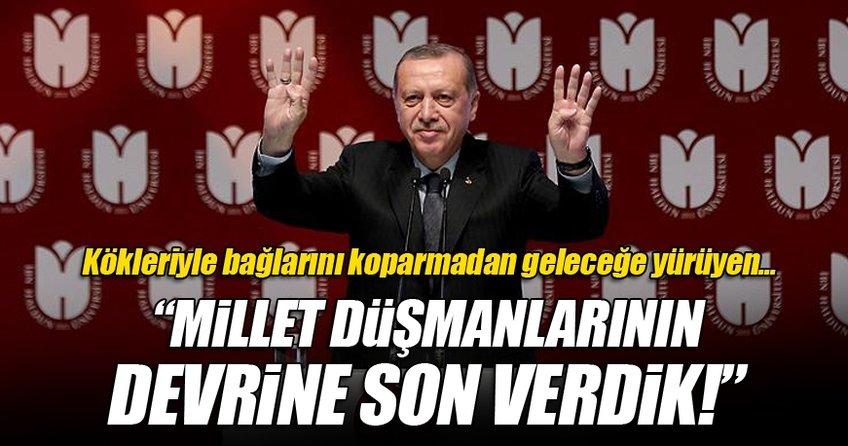 Cumhurbaşkanı Erdoğan İbn Haldun Üniversitesi'nde konuştu