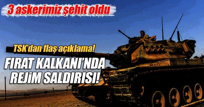 TSK'dan flaş açıklama! Suriye rejim güçlerince...