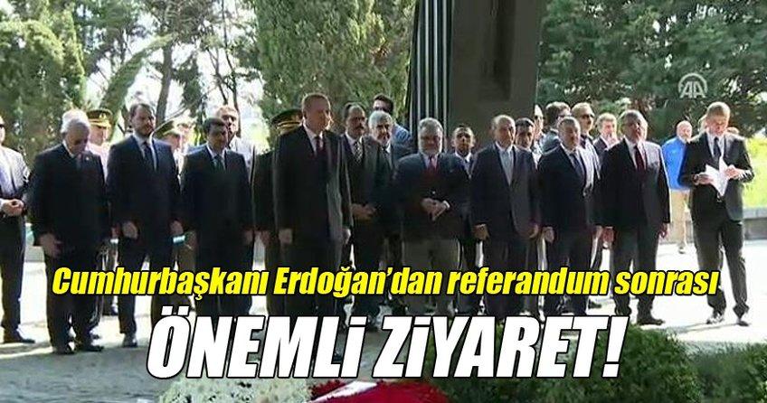 Cumhurbaşkanı Recep Tayyip Erdoğan'dan referandum sonrası önemli ziyaretler
