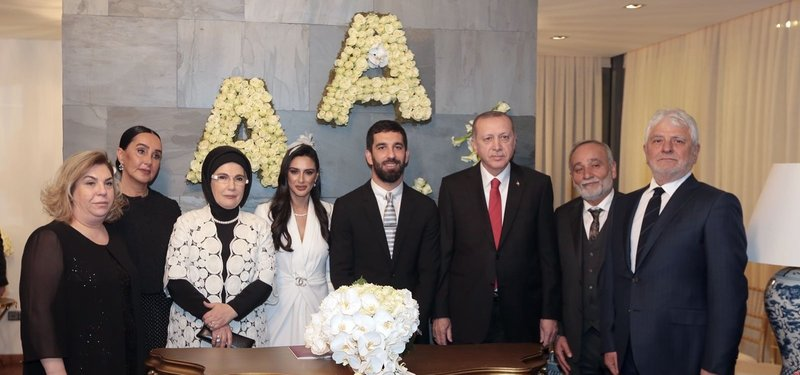 Image result for arda turan ties the knot