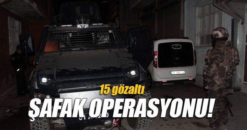 Adana'da terör örgütü PKK'ya operasyon