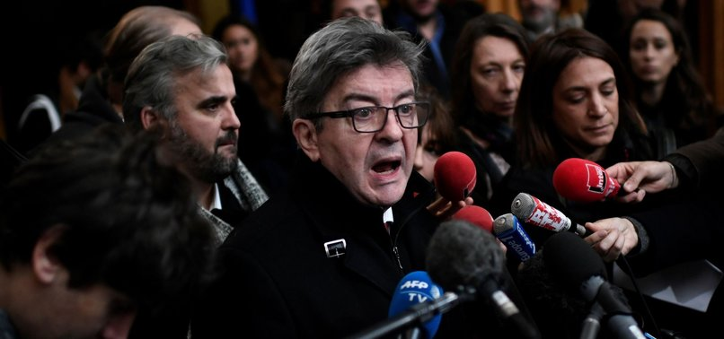 FRENCH FAR-LEFT LEADER SENTENCED TO SUSPENDED PRISON TERM FOR SHOVING POLICE