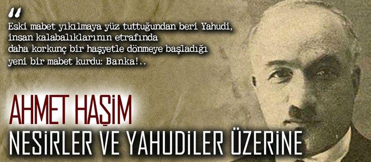 Ahmet Haşim, nesirler ve Yahudiler