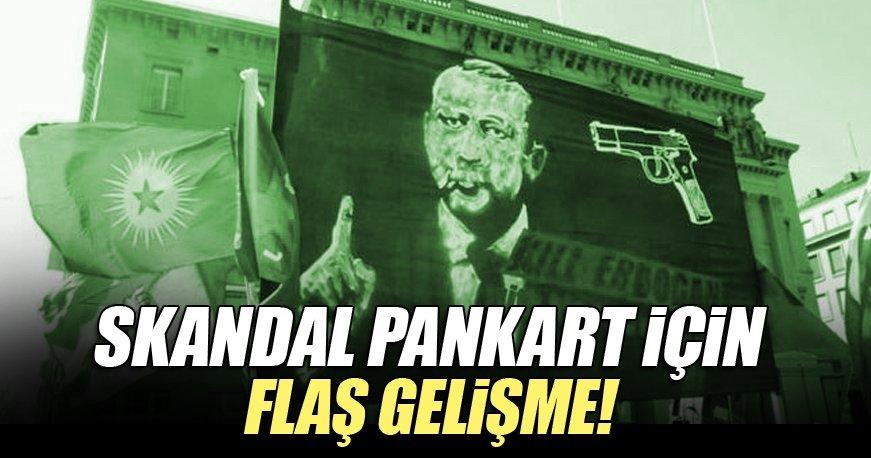 İsviçre'deki skandal Erdoğan pankartına soruşturma!