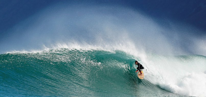 SURFER MAULED BY SHARK SWIMS TO SHORE DESPITE LEG INJURIES