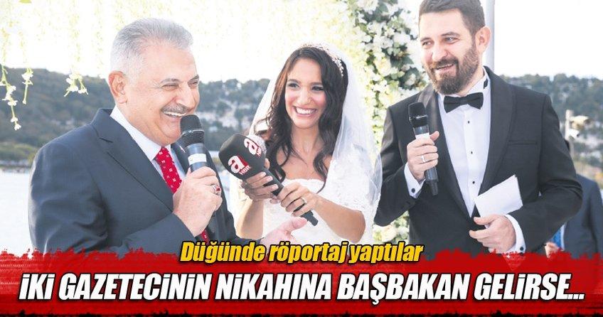 İki gazetecinin nikahına Başbakan gelirse...
