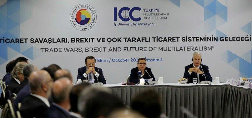 TURKEY RAISES CONCERNS OVER BREXIT, TRADE WARS