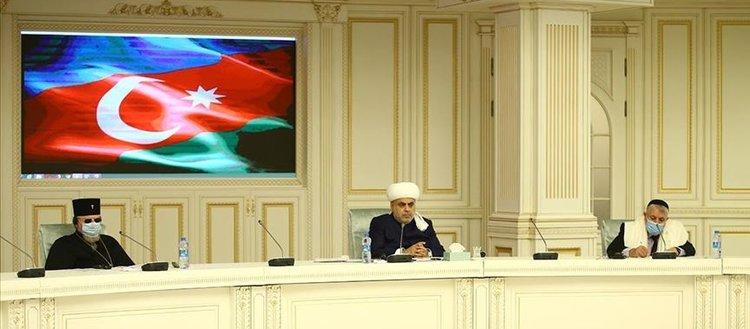 Azerbaycan'daki Müslüman, Hrıstiyan ve Yahudi dini liderlerden Ermenistan'a tepki
