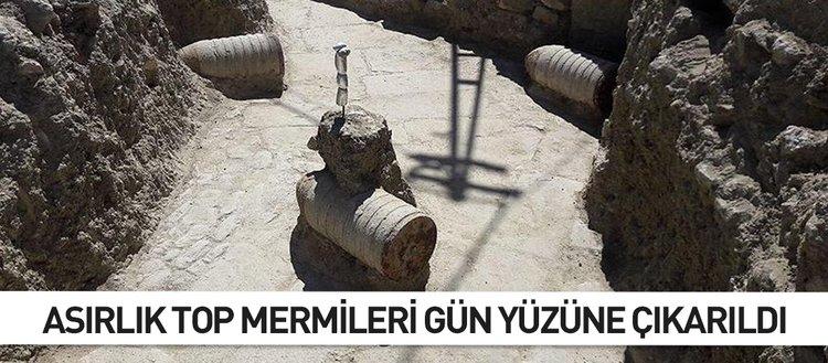 Asırlık top mermileri gün yüzüne çıkarıldı