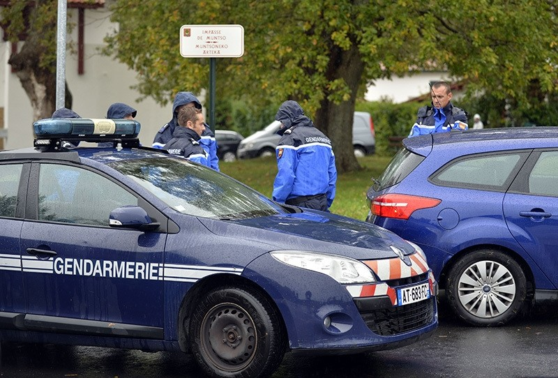 rench gendarmes block the access to a house were the most senior leader of the Basque separatist group ETA, Mikel Irastorza was found in the French town of Ascain (AFP Photo)