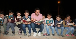 Turkish neighborhood head starts reading hour for kids