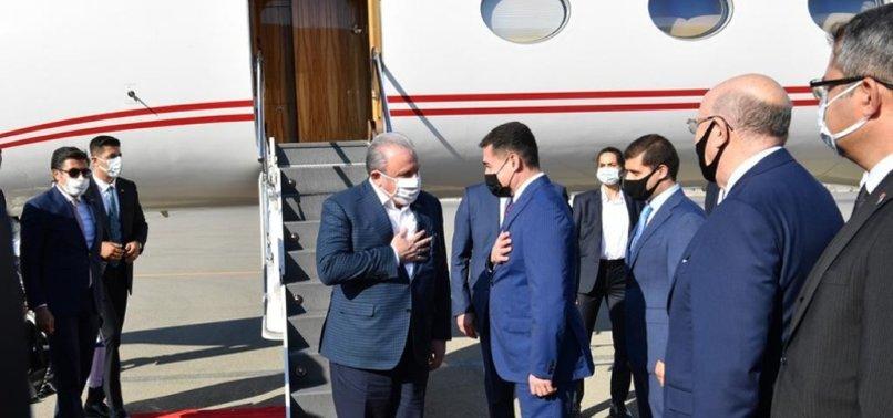 TURKEYS PARLIAMENT SPEAKER ARRIVES IN BAKU FOR TALKS