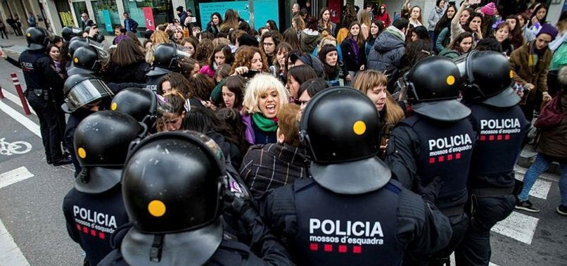 SPANISH WOMEN GO ON NATIONWIDE STRIKE IN WOMENS DAY FIRST