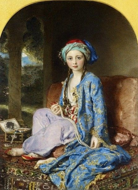 Victoria, Princess Royal, in a Turkish-style costume by William Charles Ross.