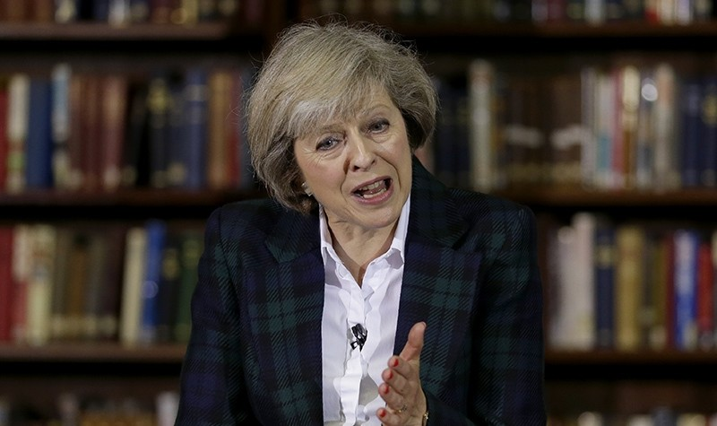 Britain's Home Secretary Theresa May launches her leadership bid for Britain's ruling Conservative Party in London, Thursday, June 30, 2016 (AP Photo)