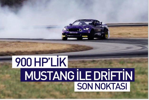 900 HP'lik Mustang ile driftin son noktası