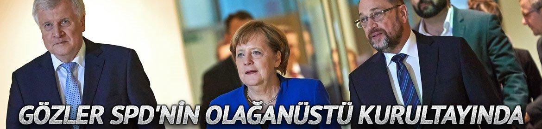 Almanyada gözler SPDnin olağanüstü kurultayında