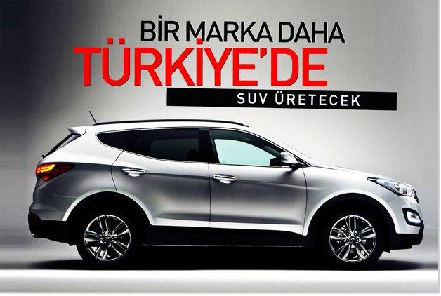 Bir marka daha Türkiye'de SUV üretecek