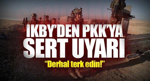 IKBY'den PKK'ya son uyarı: Sincar'ı terk edin!