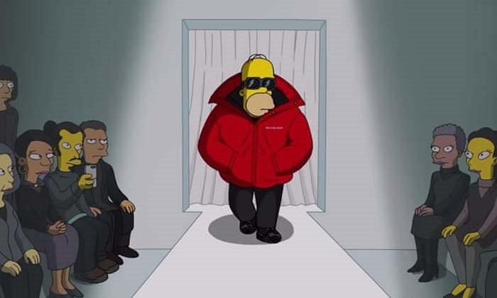 'Simpsonlar' Balenciaga ile Paris Moda Haftası'nda Buluştu