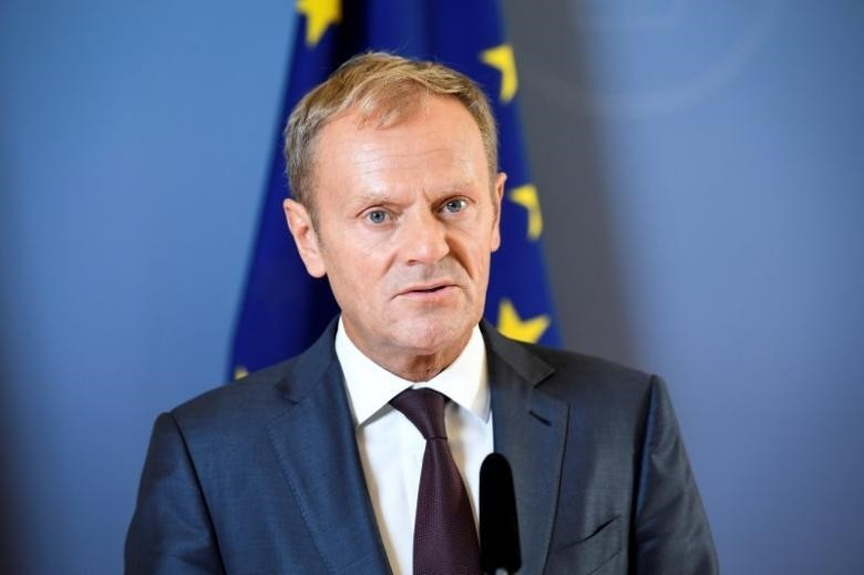 President of the European Council Donald Tusk looks on during a joint news conference with Sweden's Prime Minister Stefan Lofven (unseen) at the government headquarters Rosenbad in Stockholm, Sweden, September 9, 2016. (REUTERS Photo)