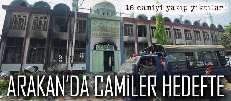 Arakan'da camiler hedefte: 16 cami yıkıldı!