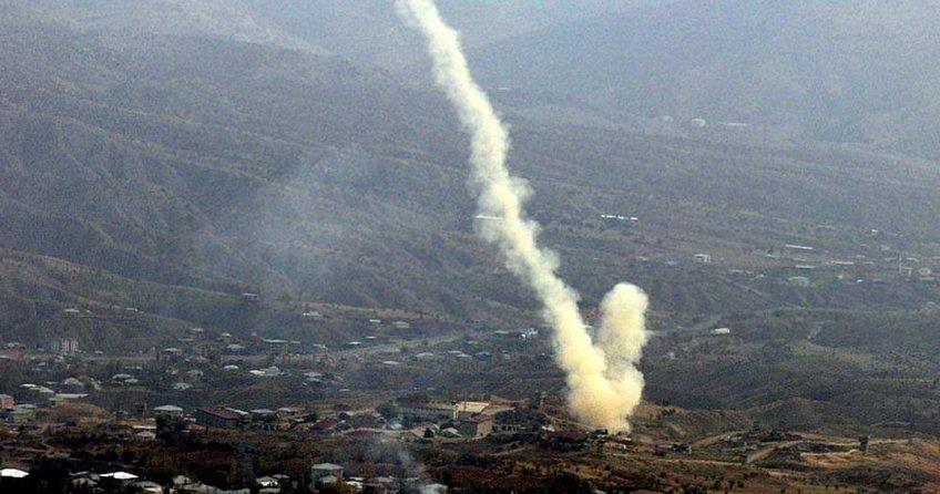 Ateş açan PKK'lılara bomba yağdı