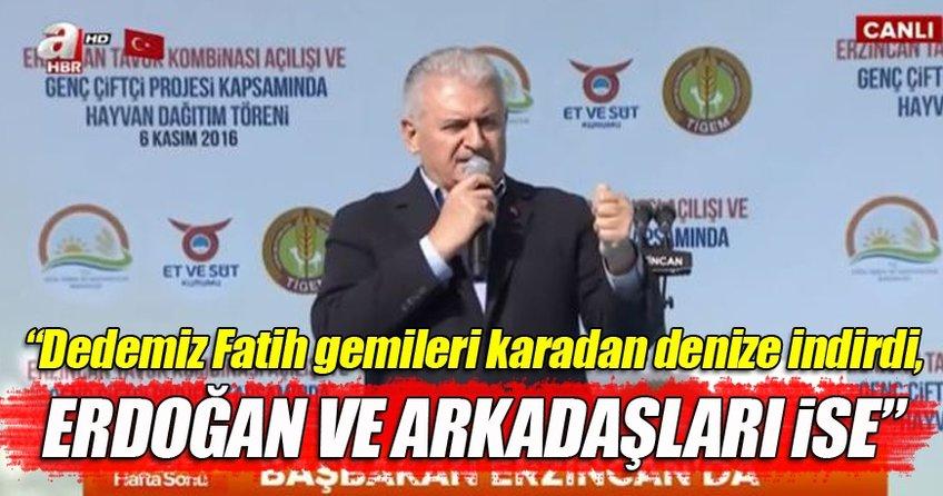 Başbakan Binali Yıldırım Erzincan'da tavuk kombinası açılışında konuştu