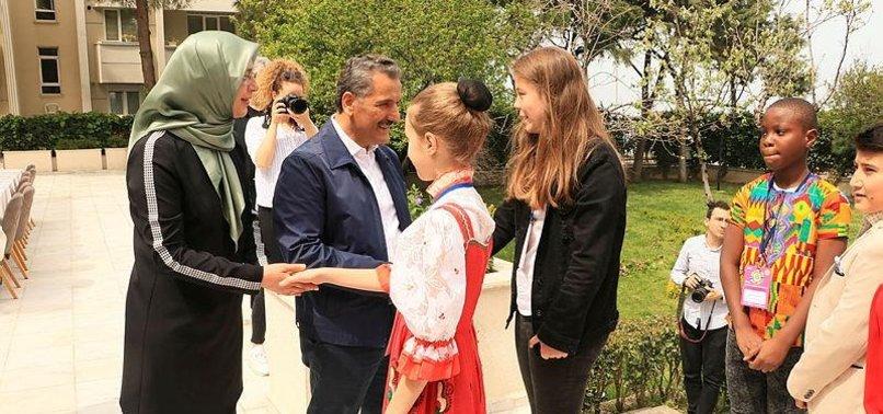 WORLD CHILDREN IN SAMSUN FOR TURKEY'S CHILDRENS DAY