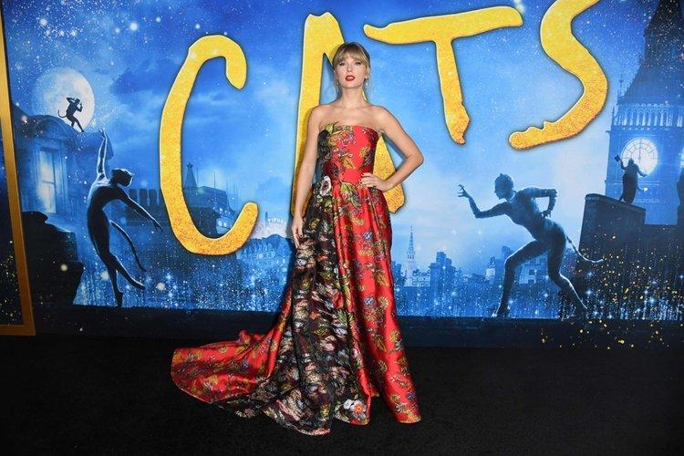 Cats galasına Taylor Swift damgası