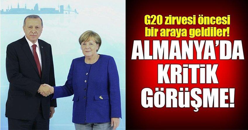 Almanya'da Erdoğan ve Merkel'den kritik görüşme!