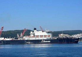 Türk Akımı için gelen devasa gemi, Çanakkale Boğazı'nda