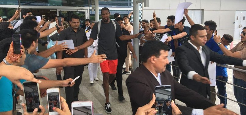 bdaca061aada Kevin Durant arrives in India as NBA tries to grow game - anews