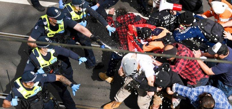 POLICE TRAMPLED, HUNDREDS ARRESTED IN MELBOURNE ANTI-LOCKDOWN PROTEST
