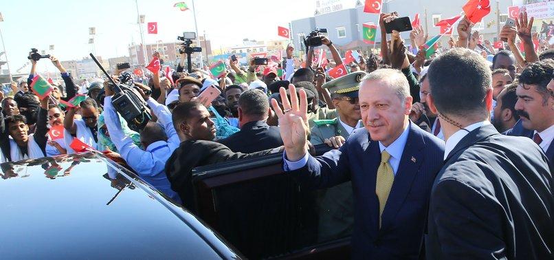 PRESIDENT ERDOĞAN ARRIVES IN MAURITANIA ON 2ND LEG OF AFRICA TOUR