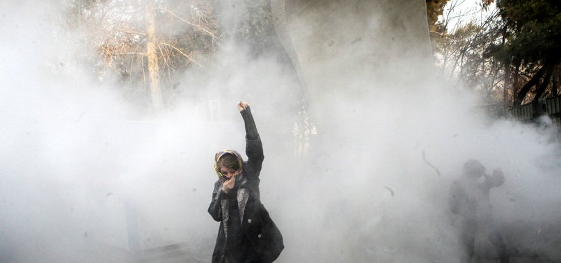 12 PEOPLE WERE KILLED AMID NATIONWIDE PROTESTS IN IRAN, STATE TV REPORTS