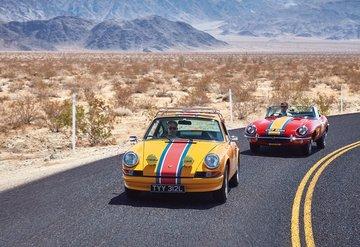 Klasik otomobillerin yarıştığı bir ralli hayal edin