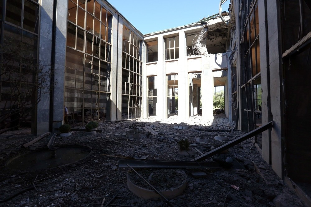 Parliament was heavily damaged by airstrikes during the coup by the Gu00fclenist junta.