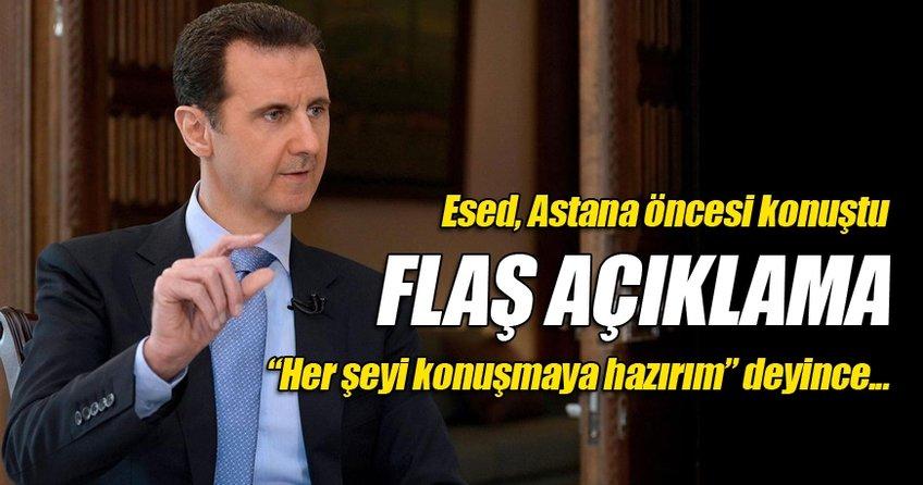 Esed, Astana öncesi konuştu